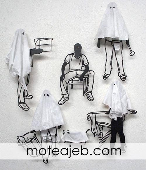 Sculptures made of wire 2 - مجسمه های ساخته شده از سیم