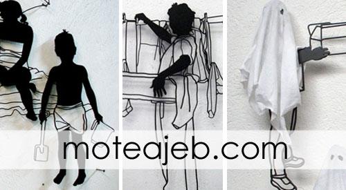 Sculptures made of wire - مجسمه های ساخته شده از سیم