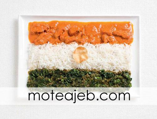 countries flag of traditional foods 6 - پرچم کشور ها از غذاهای سنتی