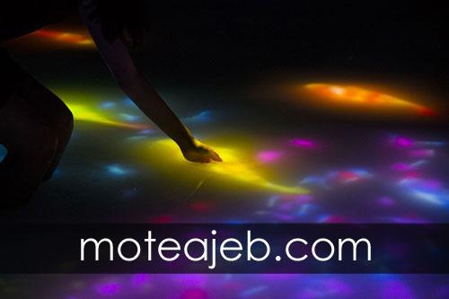 Pools made of colorful light 1 - استخر ساخته شده از نور های رنگارنگ