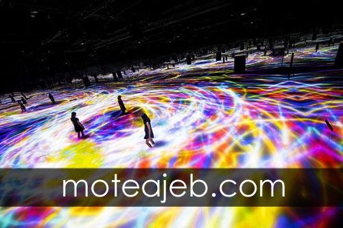 Pools made of colorful light 2 - استخر ساخته شده از نور های رنگارنگ