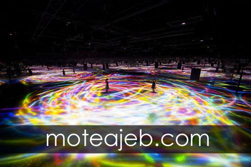 Pools made of colorful light - استخر ساخته شده از نور های رنگارنگ