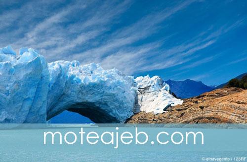 پل یخ در یخچالی طبیعی در آرژانتین