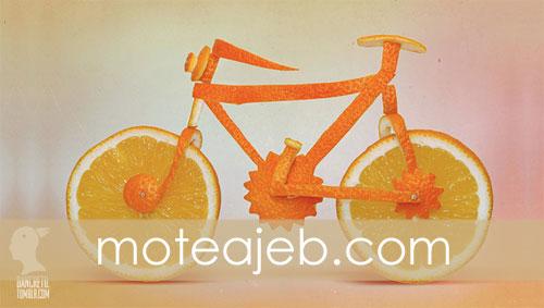 ساخت وسایل نقلیه با میوه ها