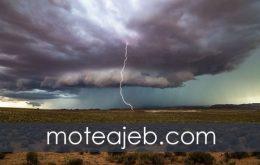 ثبت تصویر رعد برق در طوفان