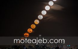ظهور ماه در شهر لس آنجلس