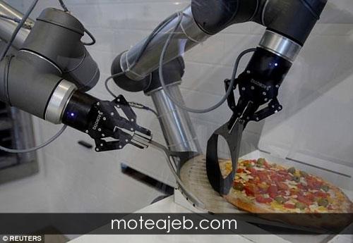 رباتی که پیتزا می پزد! (عکس)
