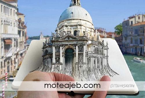 ترکیب طراحی و عکاسی هنرمند ایتالیایی